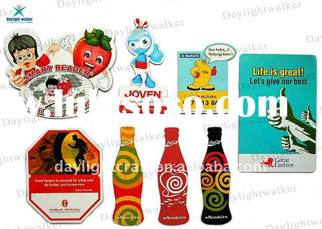 Manufacturer Customized shape Christmas Paper Fridge Magnet