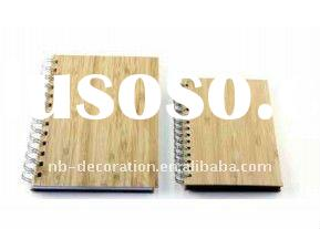 new eco-friendly notebook with bamboo cover spiral binding for gift