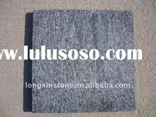 12'' x 12''  Shiny black  Quarzite Stone Walkway Paving tiles