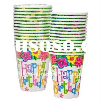 printed paper cup for birthday party disposable