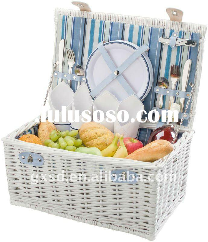 Willow Tableware And Food Storage Picnic Basket
