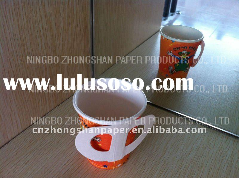 paper coffee cup with handle