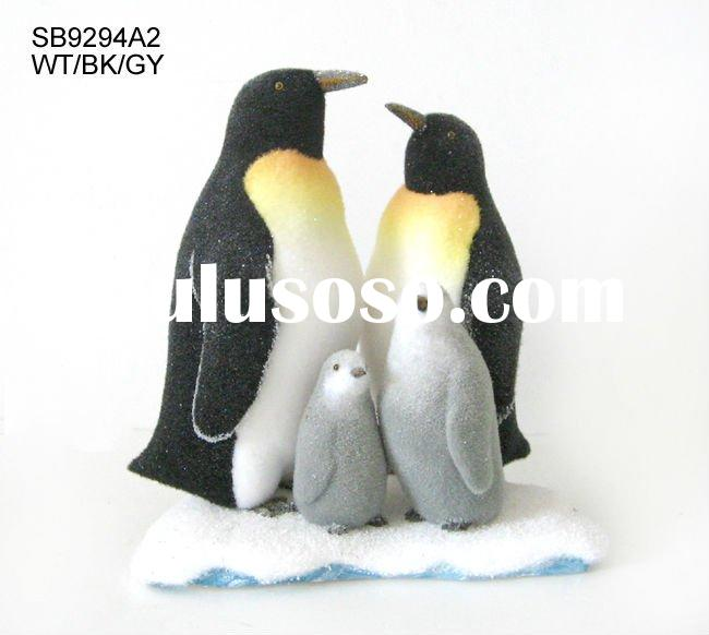 44cm husband and wife penguins with 2 baby penguins on sonow