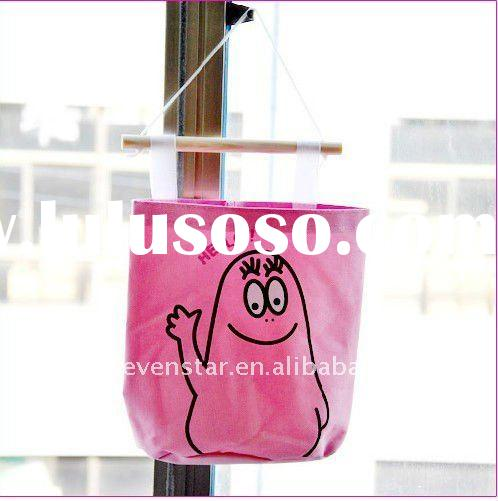 Eco-friendly Cartoon Decorative Collapsible Reusable Canvas Hanging Storage Bag