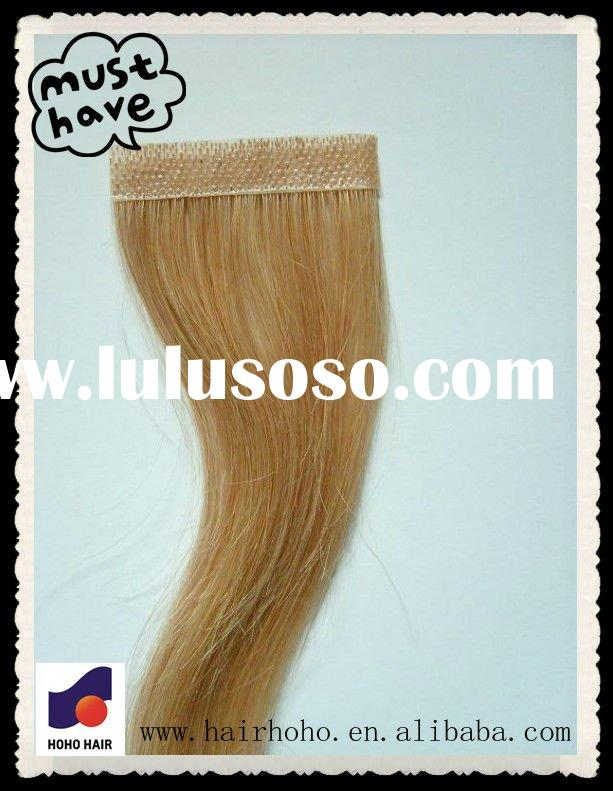 glue weft hair extension,100%remy human extension,skin tape hair weft