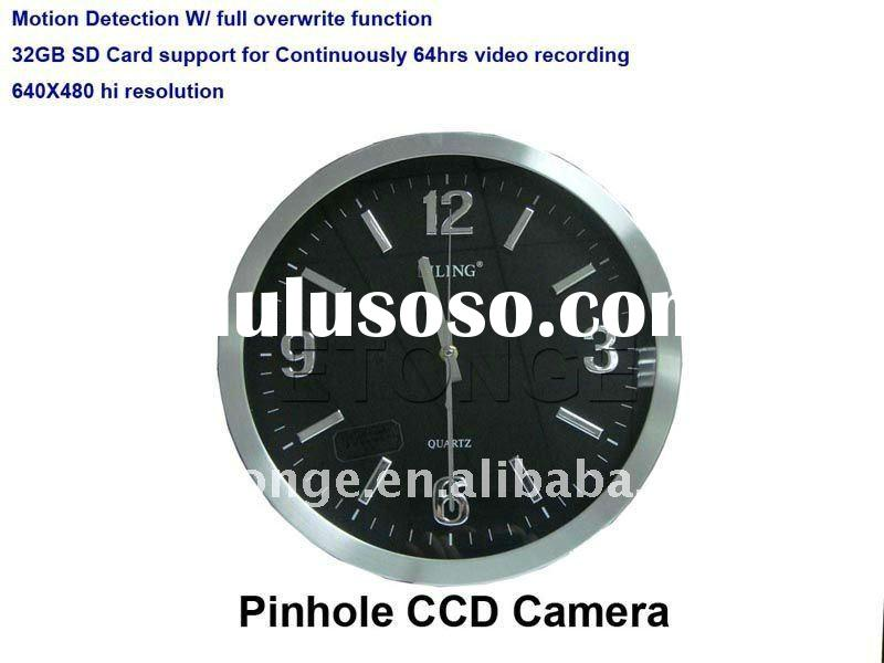 wall clock hidden dvr camera with motion activated