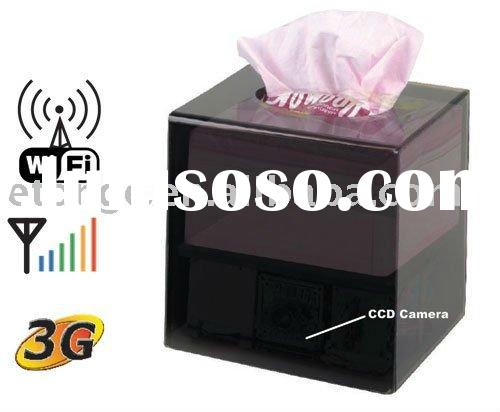 wifi ip tissue box camera with motion activated DVR