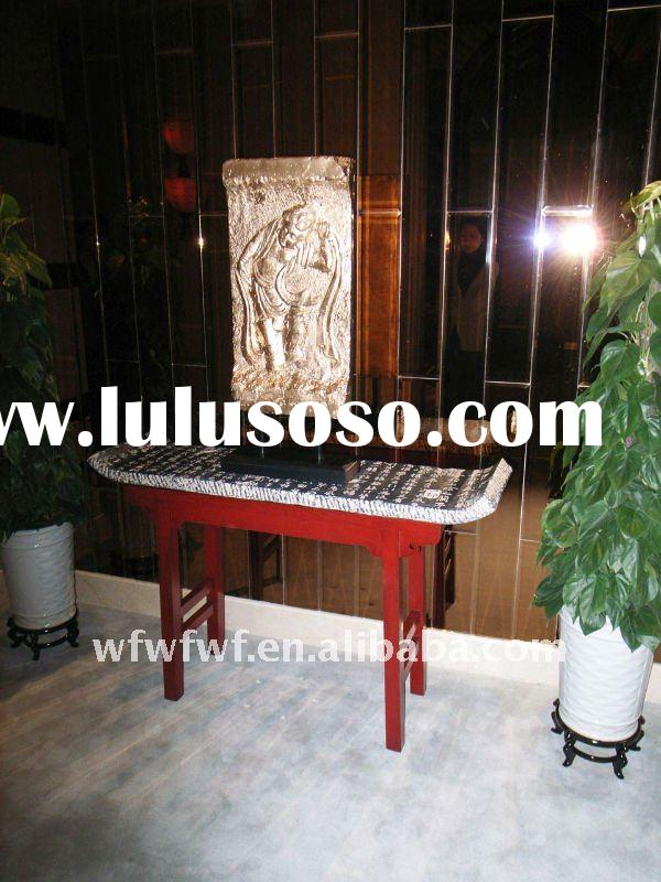 Chinese style stone top red altar table