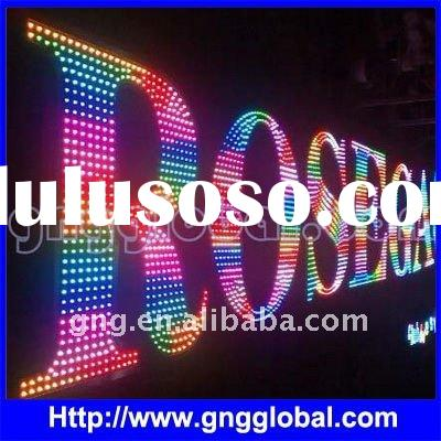 12mm color changing led channel letter sign