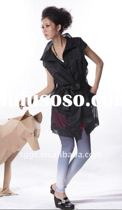 1 Spring autumn new fashion sleelveless dress dust coat