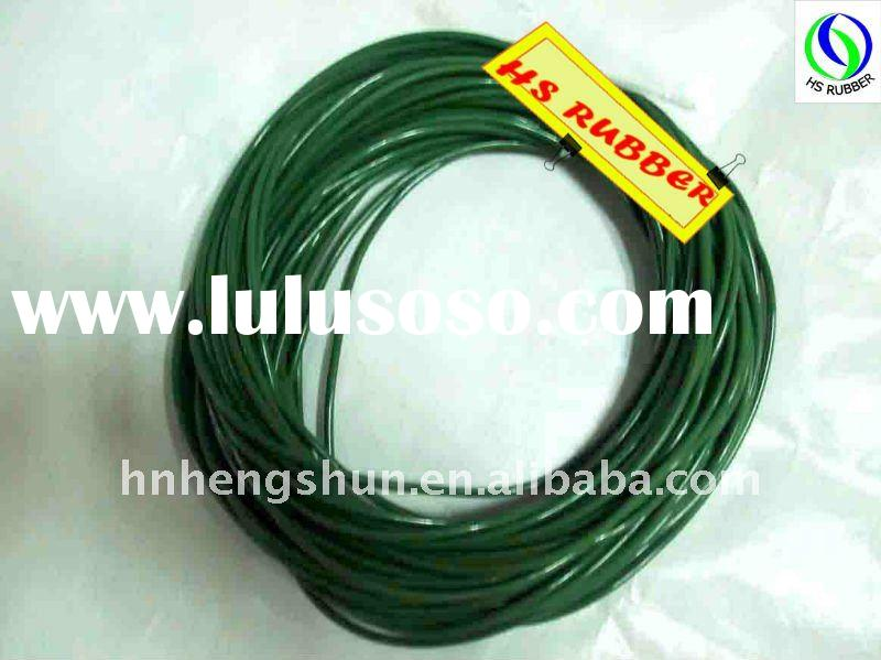 Green silicone rubber seals for pumps