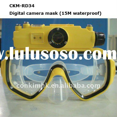 HD 720P waterproof sport action mask camera with 15 meters