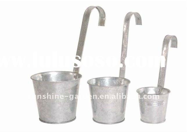 zinc flower pot, metal flower pot