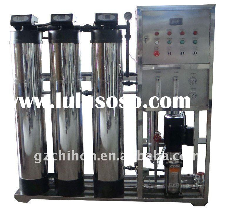 500LPH RO water system water treatment with SUS304 coat for FRP tank