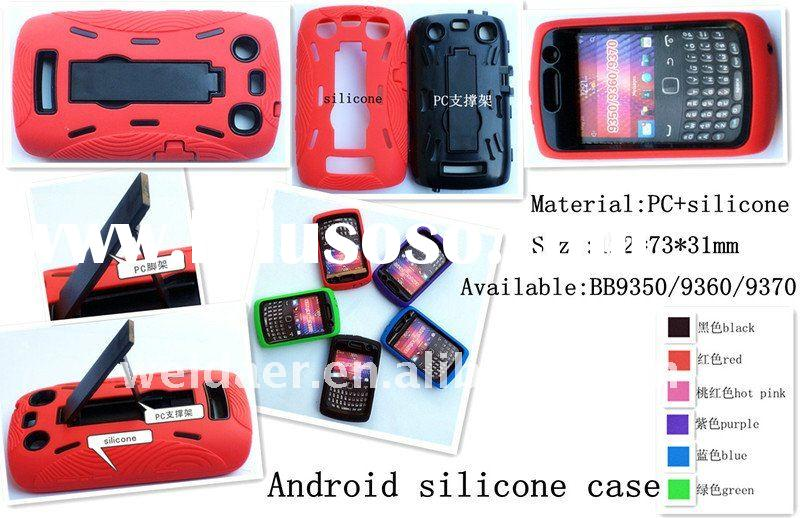 2012 hot sale cell phone case android silicone+pc case