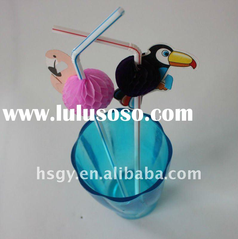 Bird Drinking Straws,Animal straws decoration