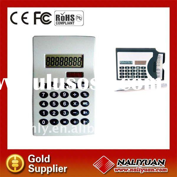 8 Digit Card Holder Calculator With Pen