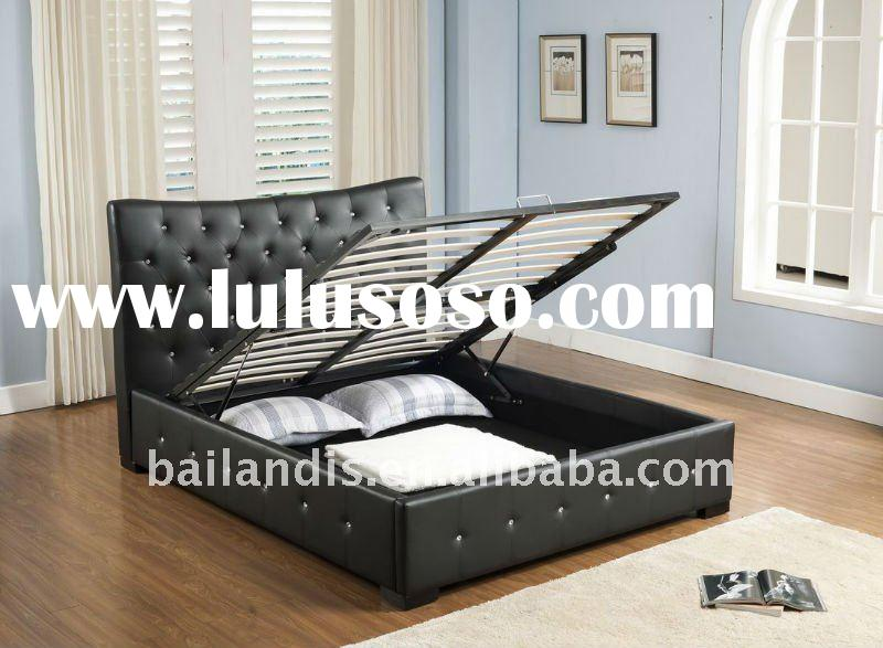 PU faux leather storage bed AH16
