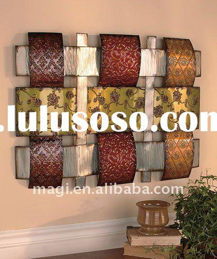 "23"" x 32"" 3D Sculpture Woven Wavy Metal Decorative Wall Art"