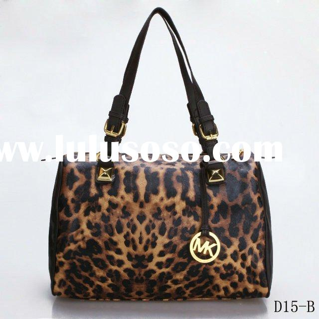 Fashion Michael Kors Leopard-Print Satchel handbags ladies PVC leather MK bags