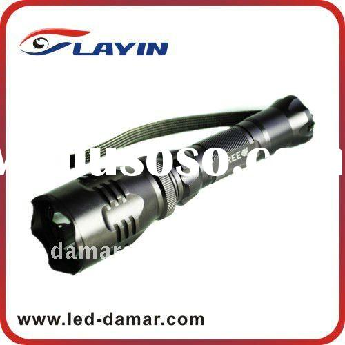 High power rechargeable 5 watt cree led flashlight