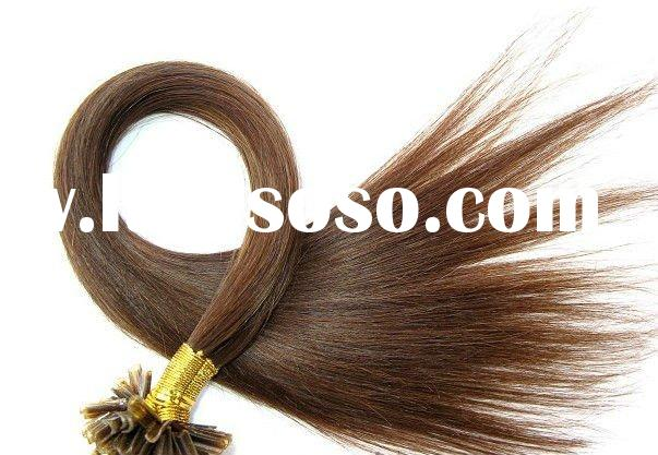 High quality nail tip pre bonded human hair extensions with various color and length available