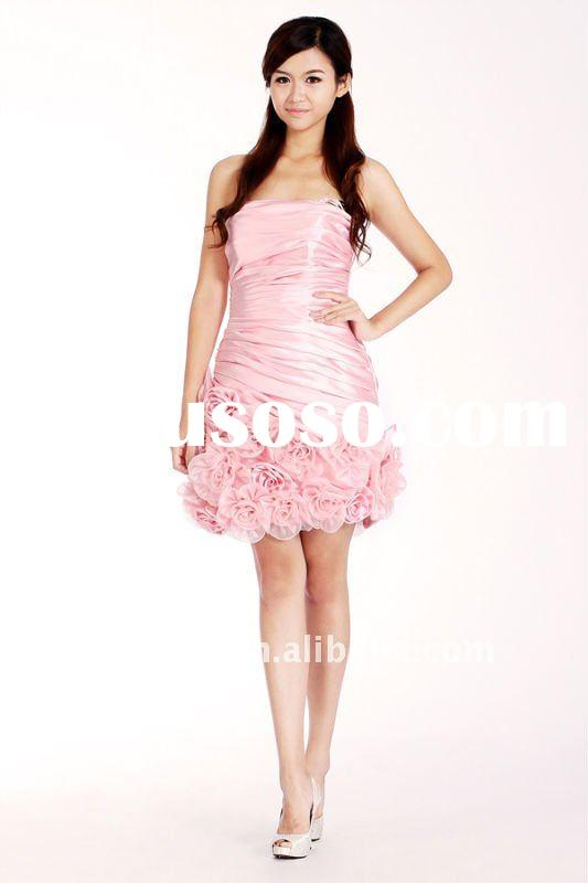 Landybridal Self Designed Cute Pink Christmas Party Dress