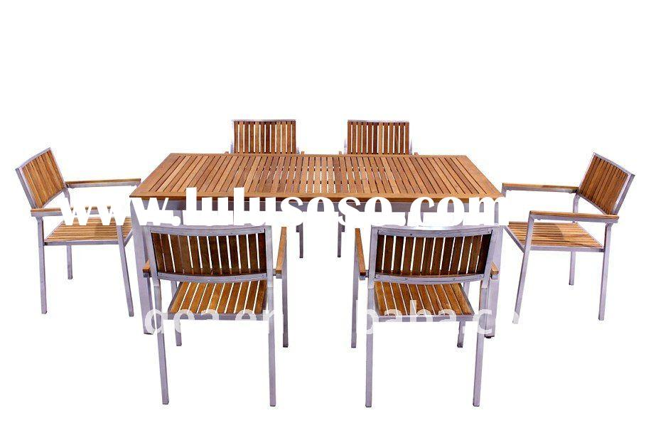 Stainless Steel Teak Garden Furniture - Teak And Steel Outdoor Furniture - Outdoor Designs