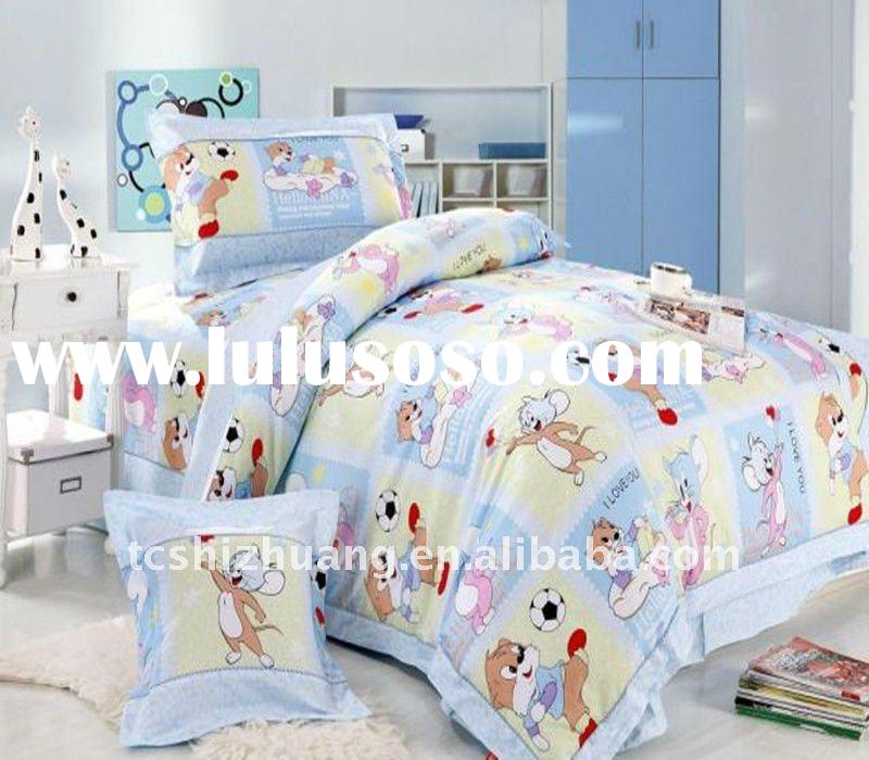 hot sell!! 100% cotton carton printed children duvet cover set