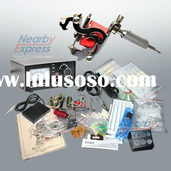 10Coils,8v-10V Complete Tattoo Machine Kit,tattoo gun kit for body beauty