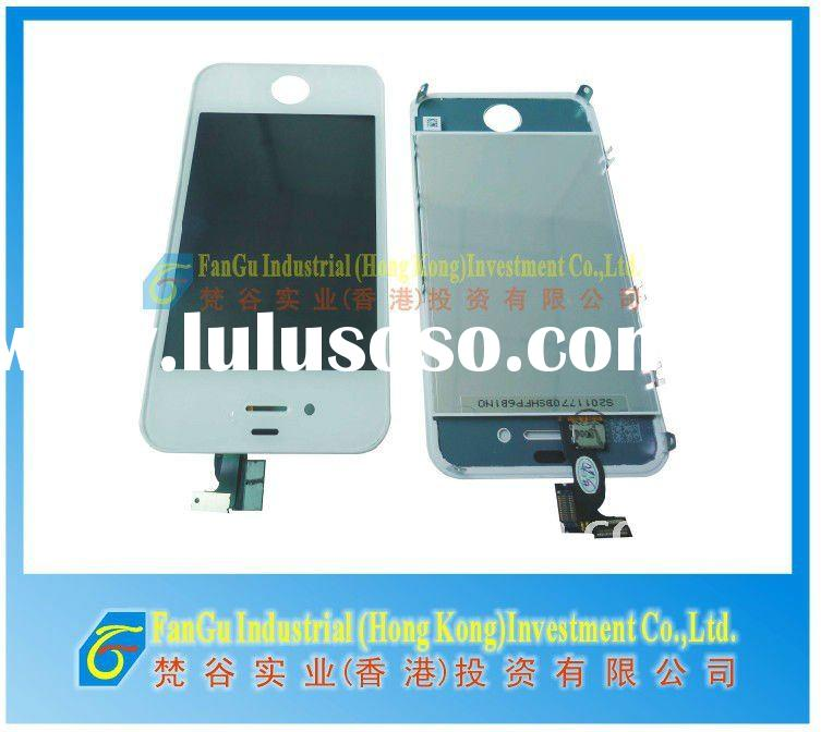 LCD with digitizer assembly for iphone 4g replacement white