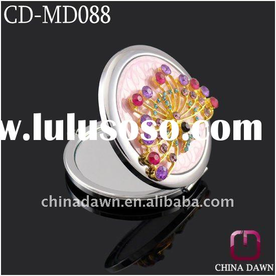 Metal make up mirror with butterfly CD-MD088