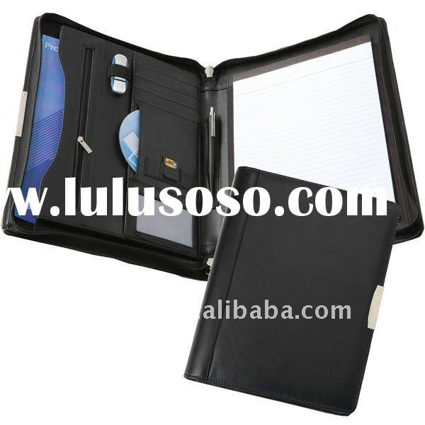 A4 Zipped PU Leather Portfolio/ Conference Folder