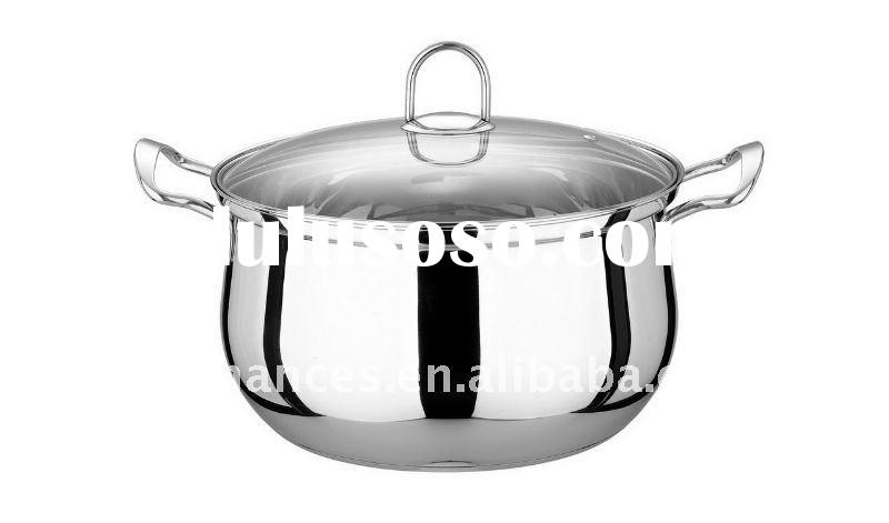 Stainless Steel Casserole with Glass Lid