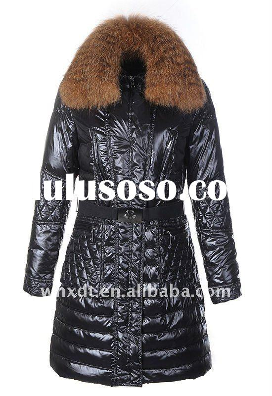 lady's warm winter coat with fur collar