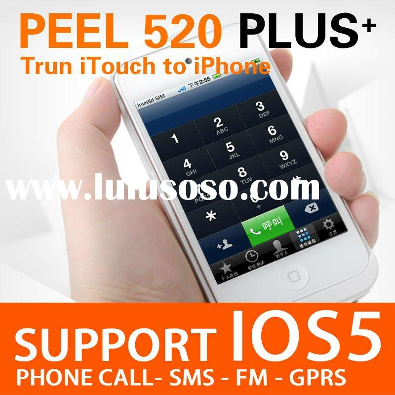 2012 New Peel 520 2GS for iPod touch4, Trun itouch to iPhone like, with backup battery