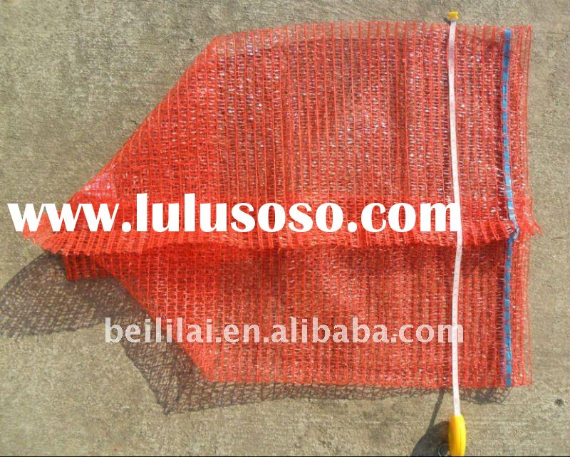 50x65cm, red, mesh bag for packing potato, onion mesh bag, vegetable mesh bag