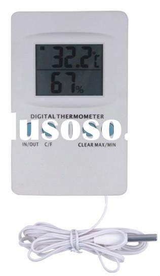 white color digital thermometer with probe