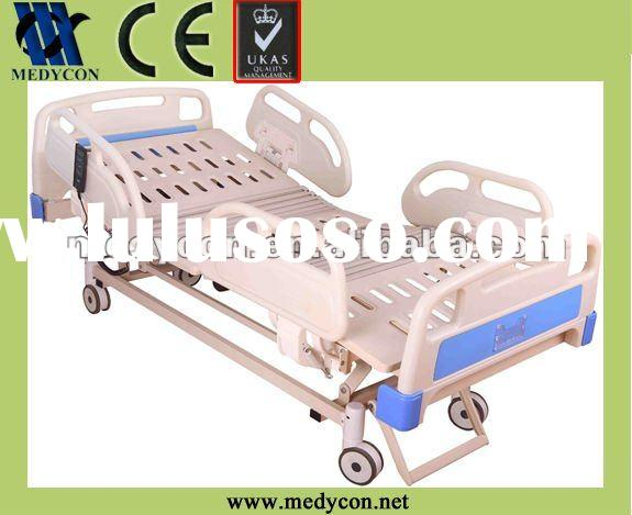 Electric hospital bed with five functions by four motors