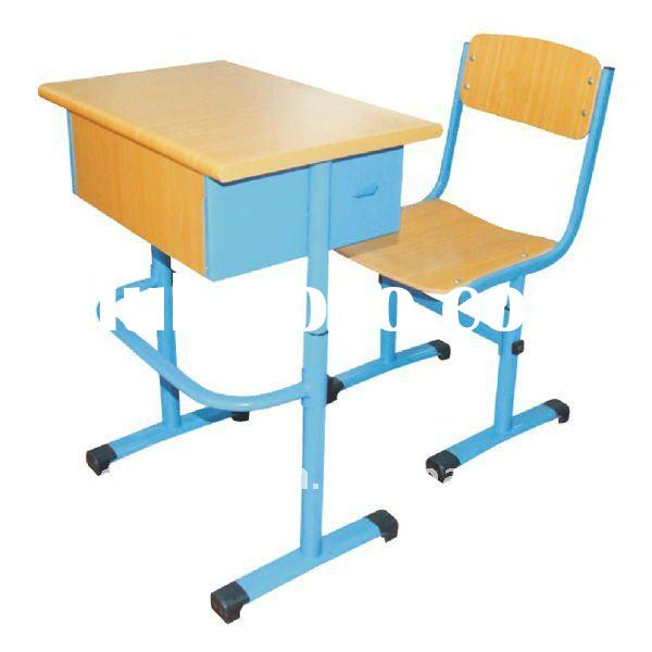 2011 High-quanlity Adjustable School Desk with Chair
