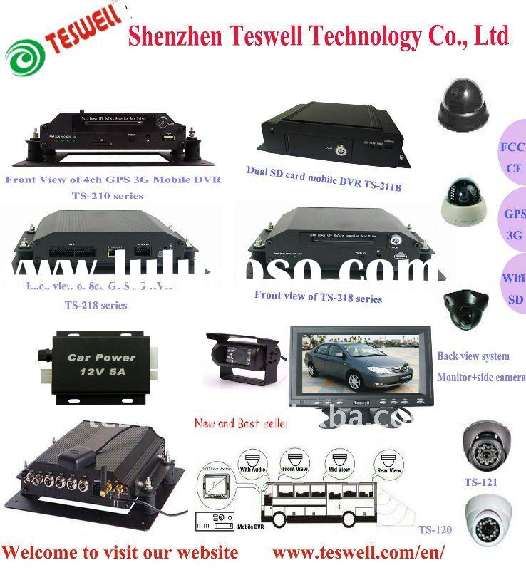 4 channel hot mobile car DVR with 3G+GPS functions