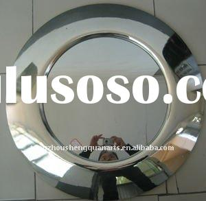 Modern home decorative pu wall mirror plated silver