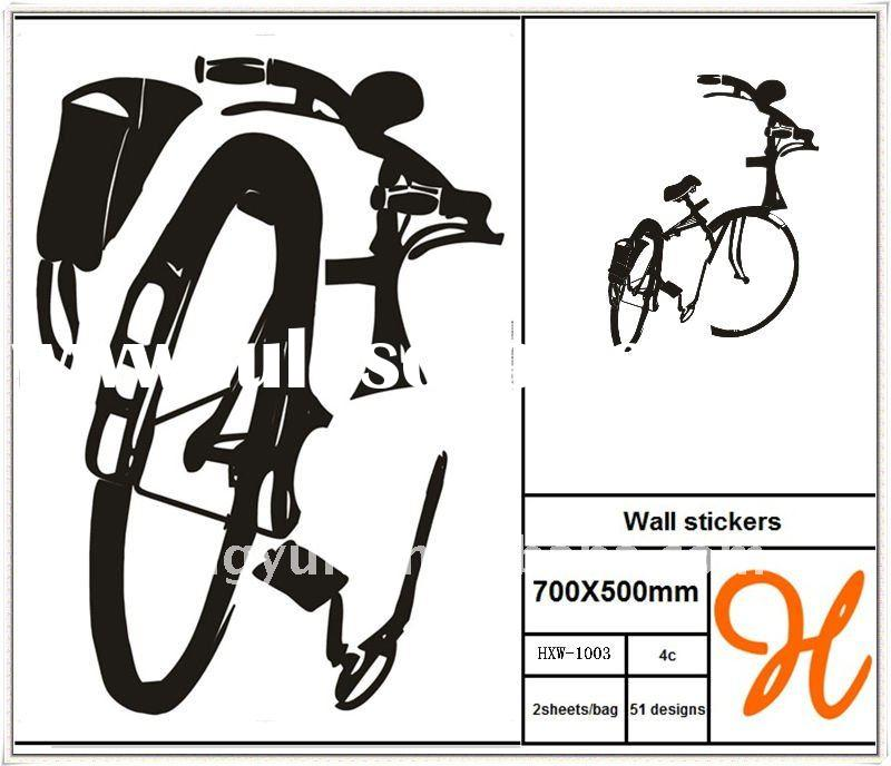 *Hengxu* Vinyl bicycle wall decals
