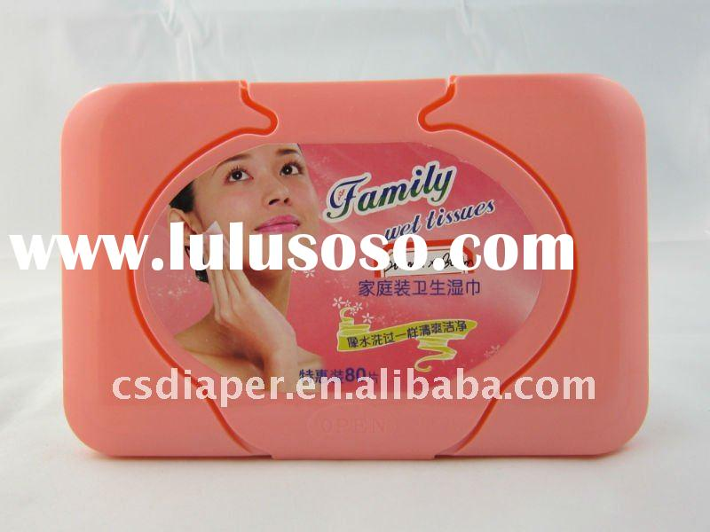 Baby skin care wet wipes with box