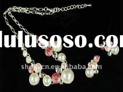 Hotsell spring necklace and earring set,2012 yiwu fashion artificial jewellery for ladies