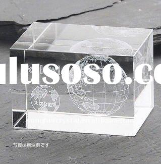 SH-ND-066 / Engraved Crystal Laser Paperweight