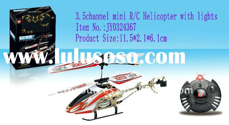 11.5cm long-3.5ch mini metal rc helicopter with gyro and lights