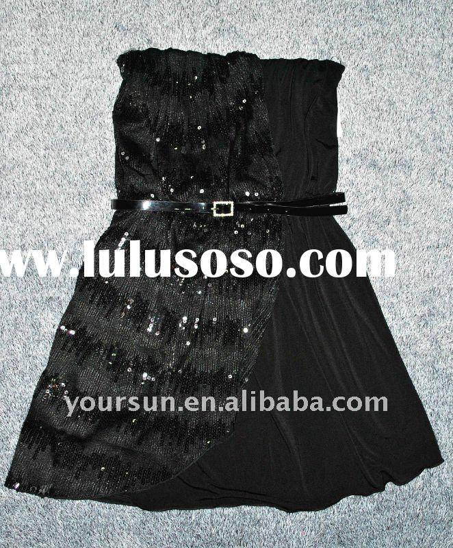 2011 new style sequins evening dress