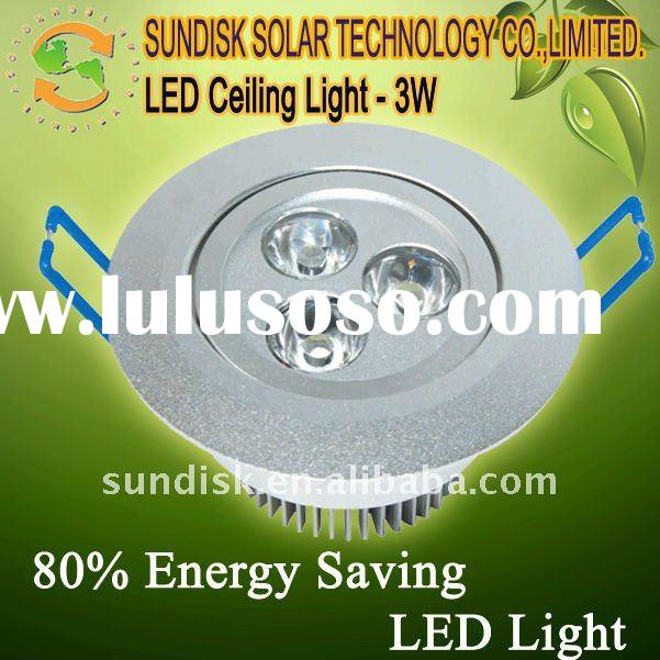 3W Aluminum LED Ceiling Light