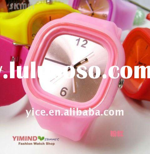 808 Stainless steel case silicone jelly watch